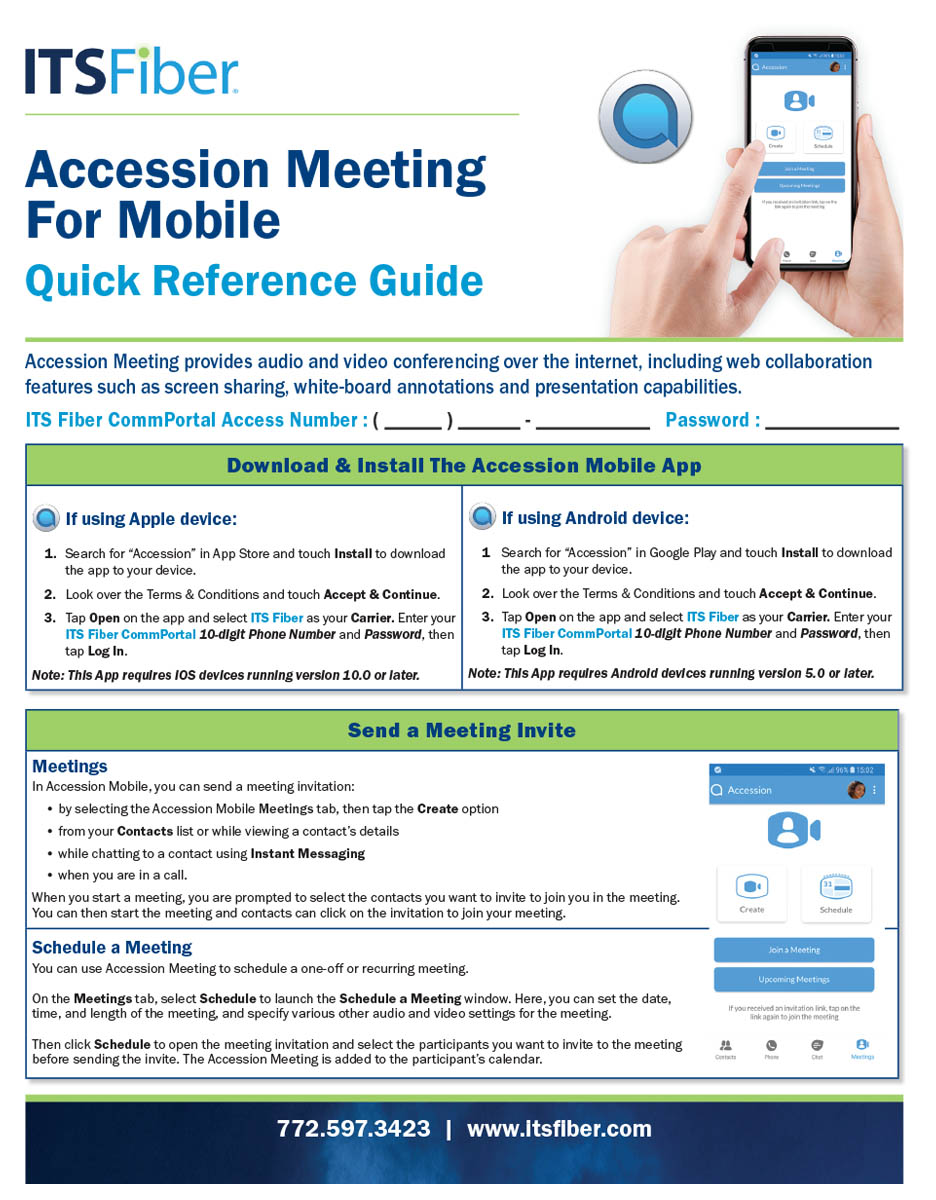 Accession Meeting for Mobile Quick Guide