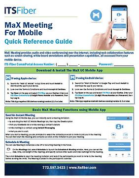 MaX Meeting Mobile Quick Guide-1