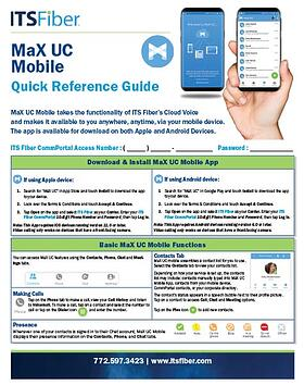 MaX UC Mobile Quick Guide-1