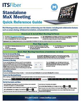 Standalone MaX Meeting Quick Guide-1