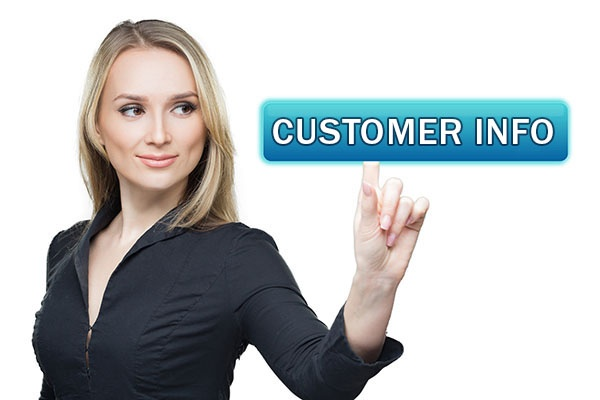 Customer Info button