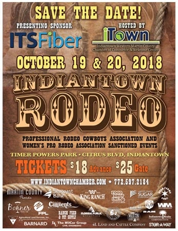 Indiantown Rodeo 2018 button