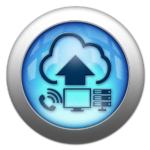Silver and Blue Cloud Services Icon