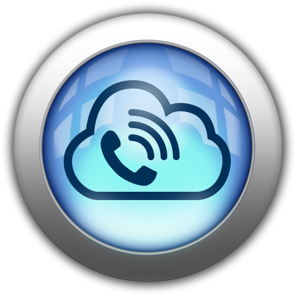 Silver and Blue Icon-cloud voice