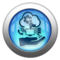 Silver and Blue Icon-managed services