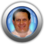 dave silver and blue icon button