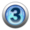 silver icon - number 3