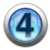 silver icon - number 4