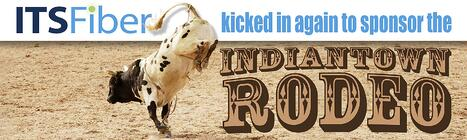 Kicked in rodeo sponsor banner