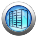 Silver and Blue Icon- Data Center