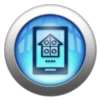 Silver and Blue Icon-Home automation