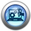 Silver and Blue Icon-IT network