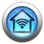 Silver and Blue Icon-home Wi-Fi
