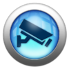 Silver and Blue Icon-security camera