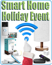 Smart Home for holidays button