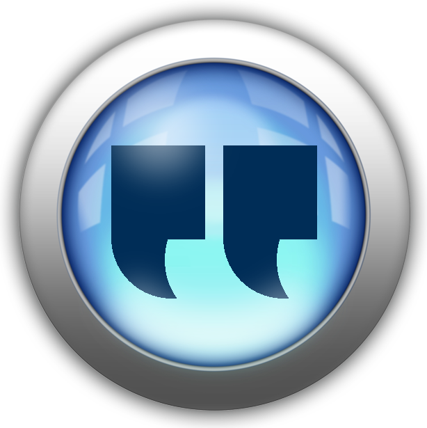 quotes silver and blue icon button.png