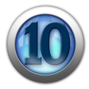 silver icon - number 10