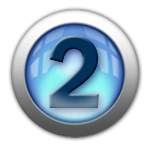 silver icon - number 2