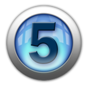silver icon - number 5