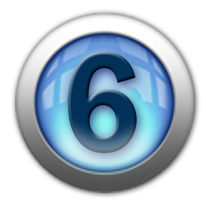 silver icon - number 6