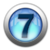 silver icon - number 7