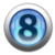 silver icon - number 8