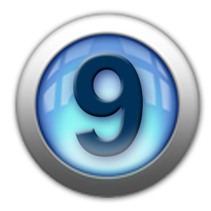 silver icon - number 9