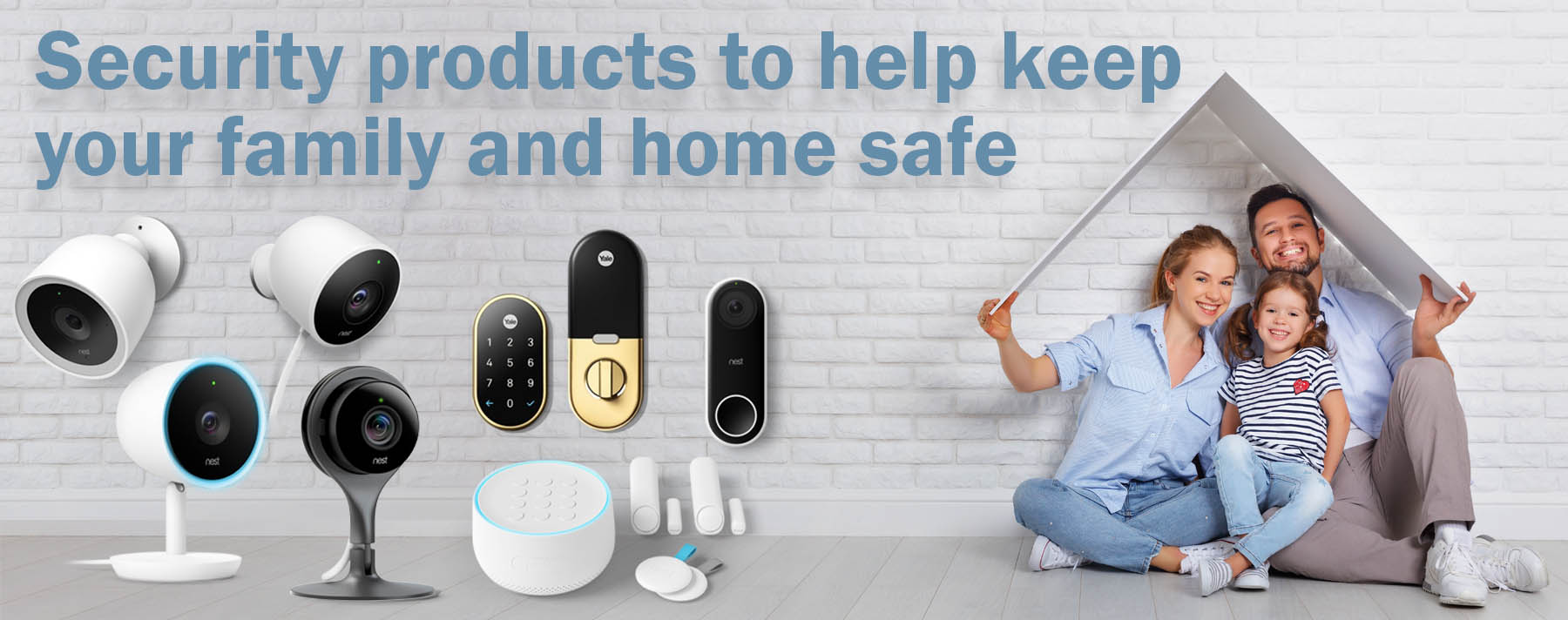 home security family banner
